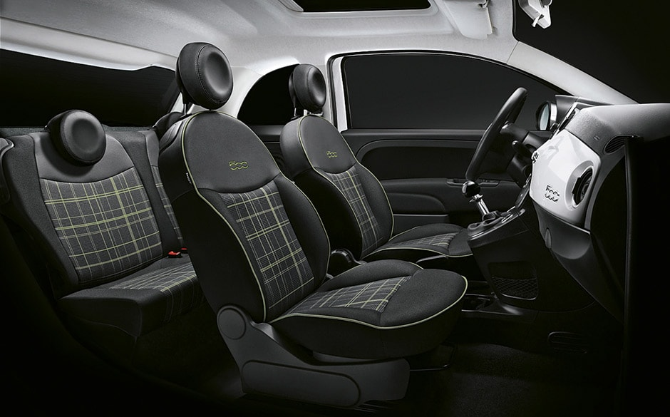 int rieur nouvelle fiat 500 voiture citadine fiat. Black Bedroom Furniture Sets. Home Design Ideas